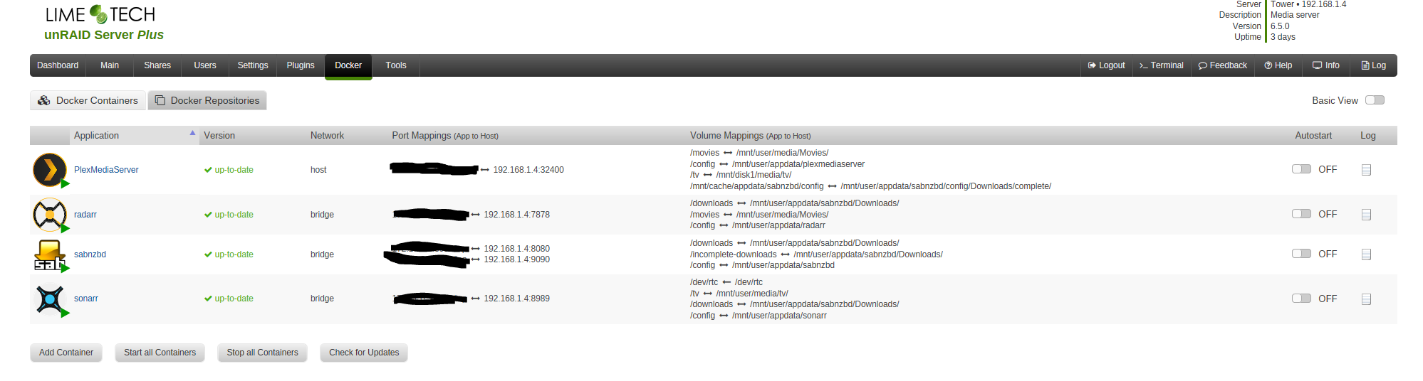 Unraid 6 docker issue - Help & Support - sonarr :: forums